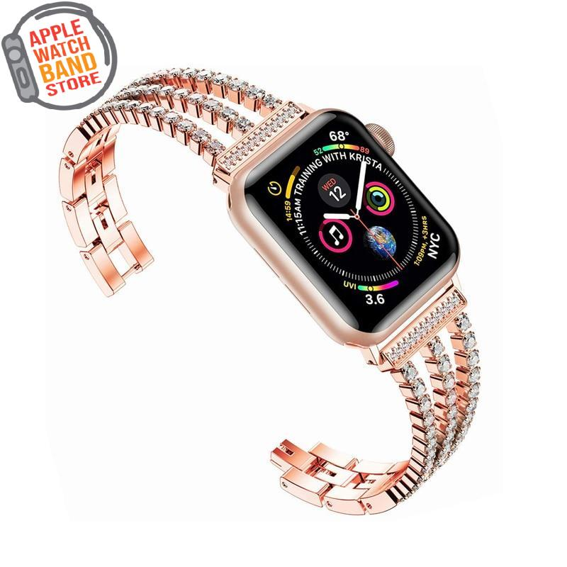 Diamond Strap For All Apple Watch Series (38mm/40mm And 42mm/44mm)- Multiple Colors