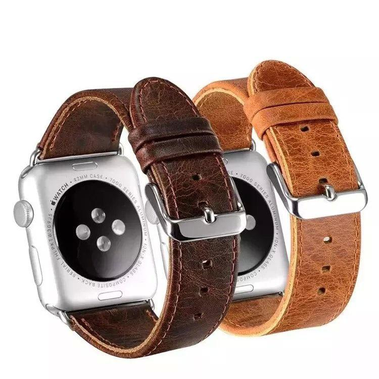 Genuine Cow Leather For All Apple Watch Series And Sizes