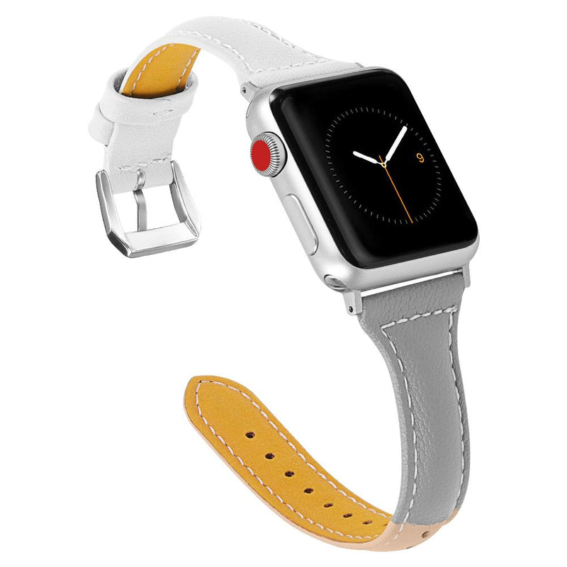 Genuine Leather Band With Metal Buckle For All Apple Watch Models