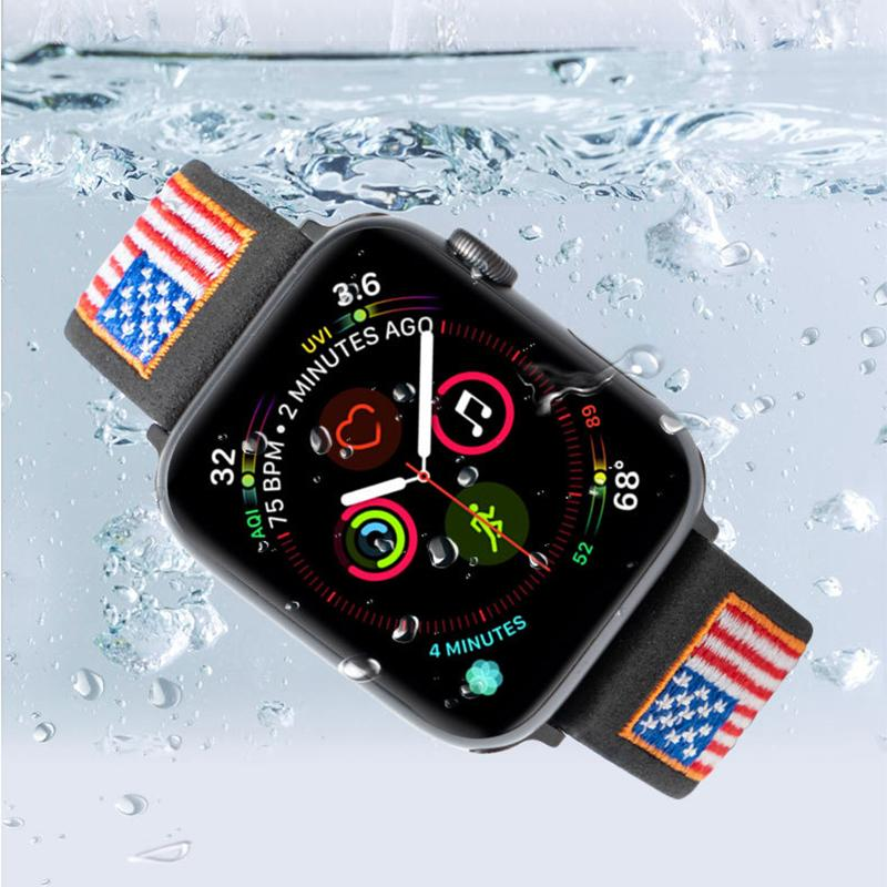 Genuine Leather Flag Watch Band For All Apple Watch Series - Multiple Colors