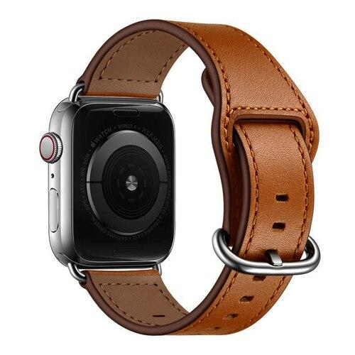 Genuine Leather Loop Strap For All Apple Watch Series