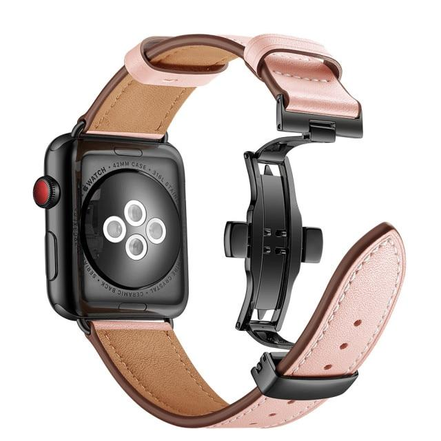 Leather Strap For All Apple Watch Series (38mm / 40mm And 42mm / 44mm) (multiple Colors)