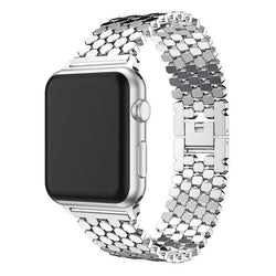 Link Stainless Steel Apple Watch Band For Apple Watch Bracelet (38mm, 40mm, 42mm, 44mm)