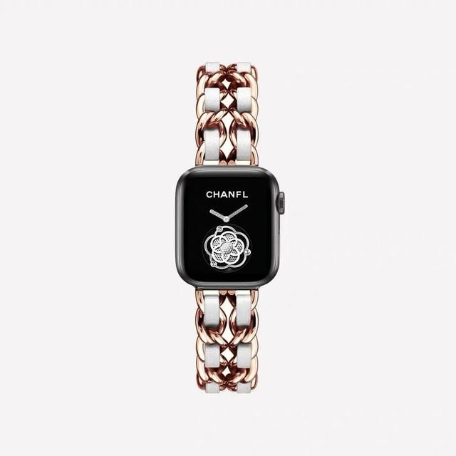 Luxury Stainless Steel Band For The Apple Watch (Series 3,4,5) - Multiple Colors