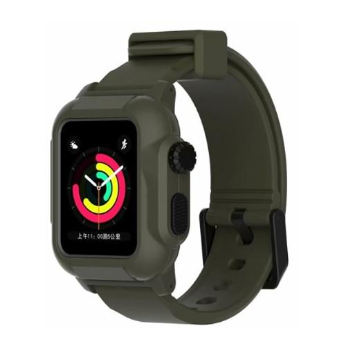 Military Grade Protective Silicone Waterproof Case + Strap For All Apple Watch Series