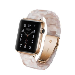 Resin Watch Band For All Apple Watch Series (38mm / 40mm And 42mm / 44mm)- Multiple Colors