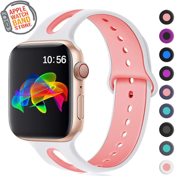 Rubber Sport Silicone Strap For All Apple Watch Series - Multiple Colors