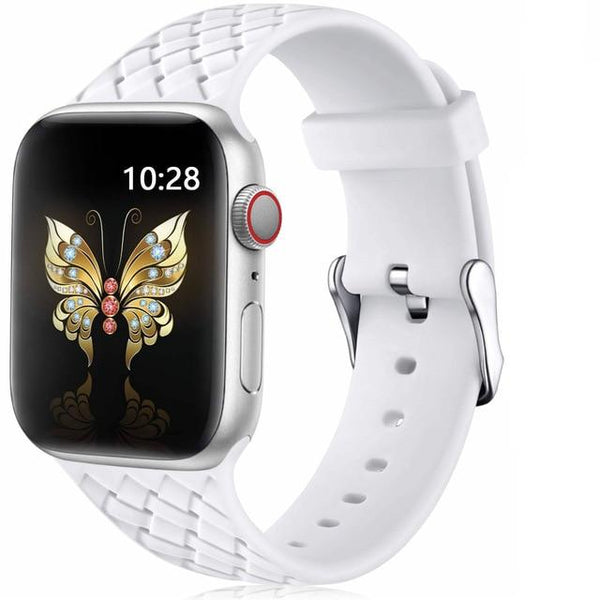 Silicone Apple Watch Band For All Apple Watch Series (38mm/40mm And 42mm/44mm)