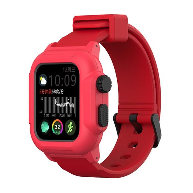 Silicone Case + Strap For All Apple Watch Series - Various Colors
