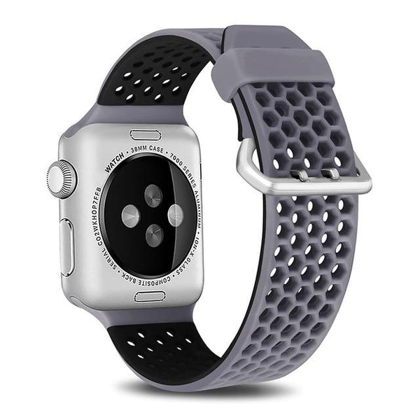 Silicone Sport Strap For All Apple Watch Series - Various Colors