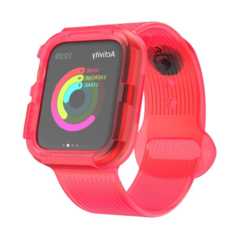 Silicone Strap/ Case For All Apple Watch Series (38mm / 40mm And 42mm / 44mm)- Multiple Colors
