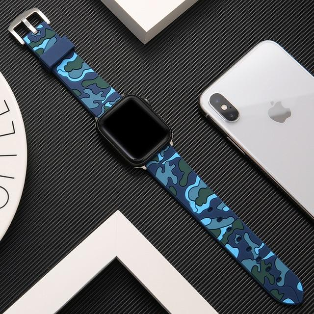 Soft Silicone Sport Band For All Apple Watch Series