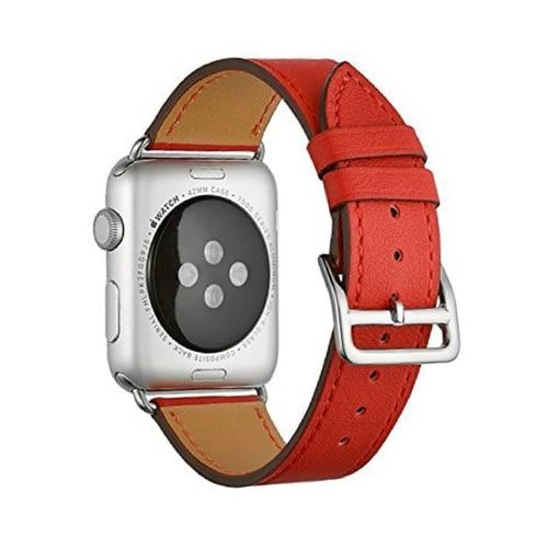 Soft Sport Silicone Leather Watchband Strap For All Apple Watch Series (5/4/3/2/1)