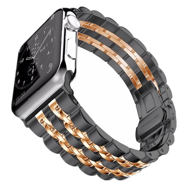 Stainless Steel Apple Watch Band For All Apple Watch Series - Multiple Colors (38mm/40mm And 42mm/44mm)