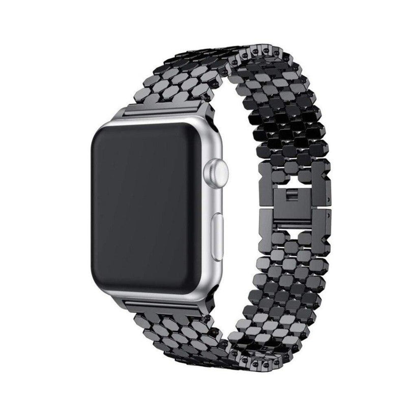 Stainless Steel Band For All Apple Watch Series (38mm / 40mm And 42mm / 44mm)- Multiple Colors