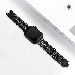 Stainless Steel Chain Strap For All Apple Watch Series (38mm / 40mm And 42mm / 44mm)- Multiple Colors