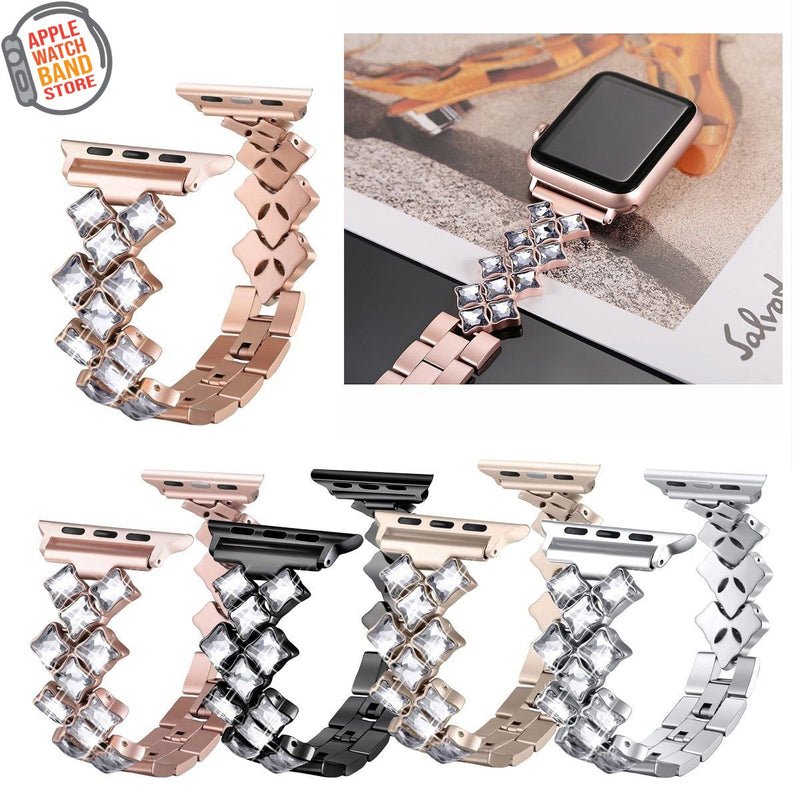 Stainless Steel Jewelry Band For The Apple Watch (All Series) - Multiple Colors