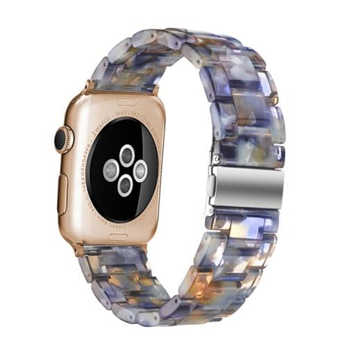 Stainless Steel Resin Watchband Wrist Strap For All Apple Watch Series (5/4/3/2/1)