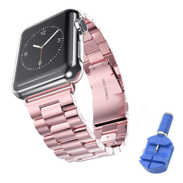 Stainless Steel Strap With Tool For Apple Watch Series 4/3/2/1 All Sizes