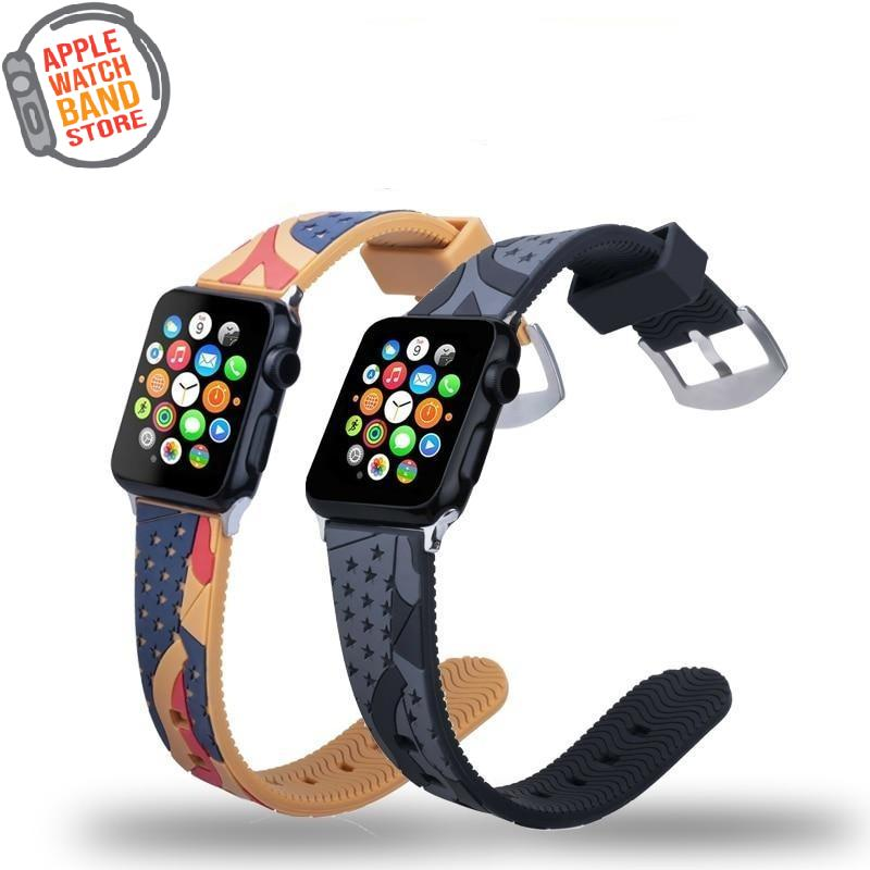 Stars Sports Silicone Band For All Apple Watch Series