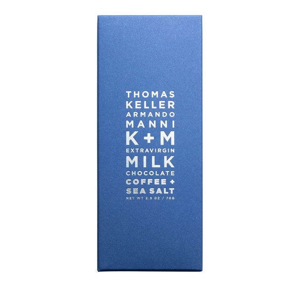 K+M Extravirgin Milk Chocolate - Coffee + Sea Salt