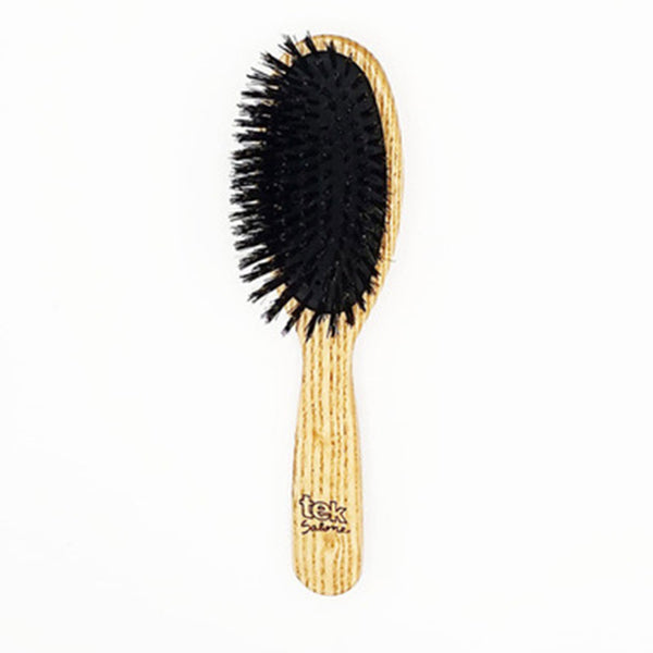 TEK Oval Brush with Wild Boar Bristles
