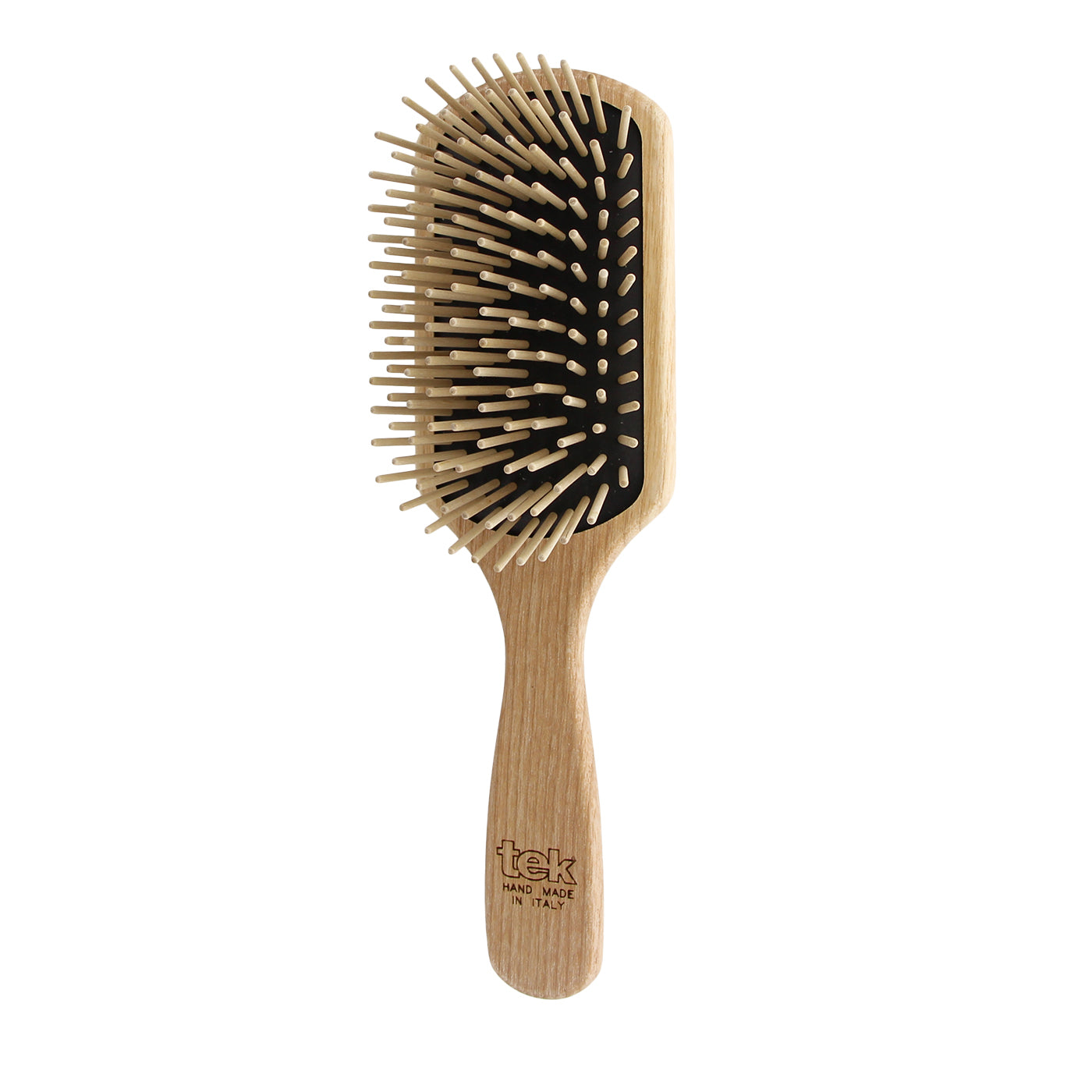 TEK Paddle Brush with Long Wooden Pins