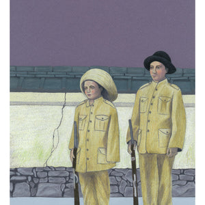 Mexican Boy Soldiers. Original Artwork Colour pencil on card. Available as a Giclee Print.