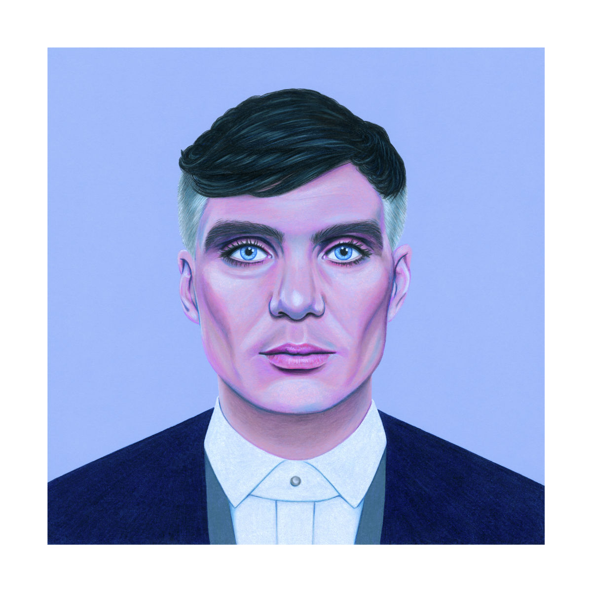 Colour pencil portrait Illustration of Cillian Murphy - Giclee Print