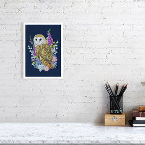 Owl in Flowers