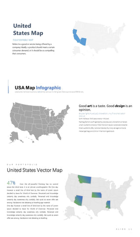 {PowerPointEasy}-{Vector map}-{Country}-{USA (United States of America)}-Slide9-12