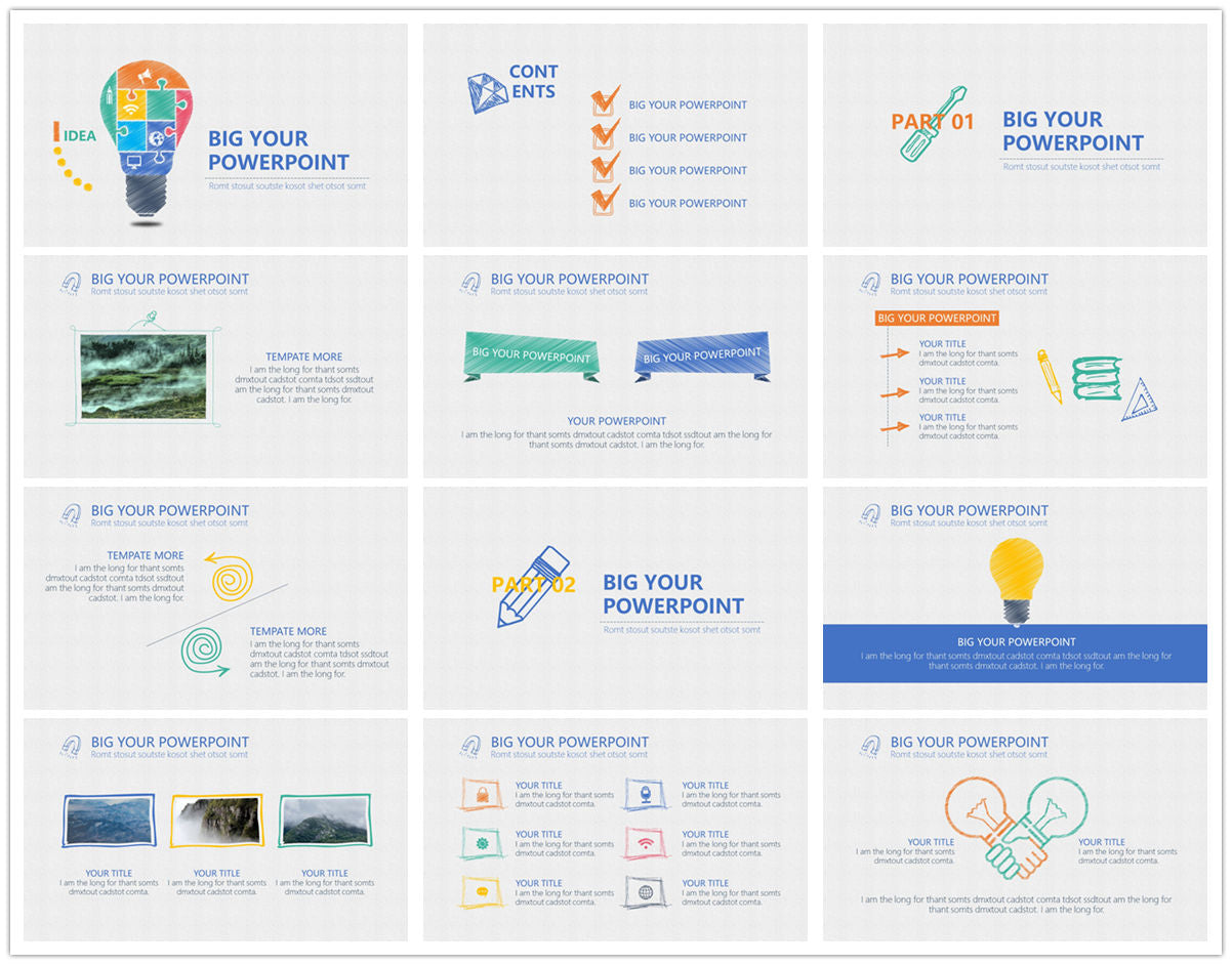 {PowerPointEasy}-{Templates}-{The best 10 hand drawing PowerPoint template}-{bundles}-slide3