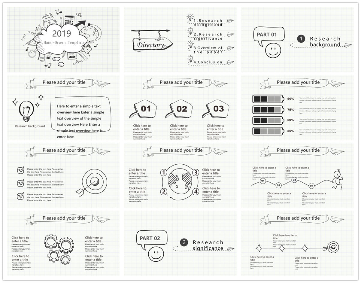 {PowerPointEasy}-{Templates}-{The best 10 hand drawing PowerPoint template}-{bundles}-slide19