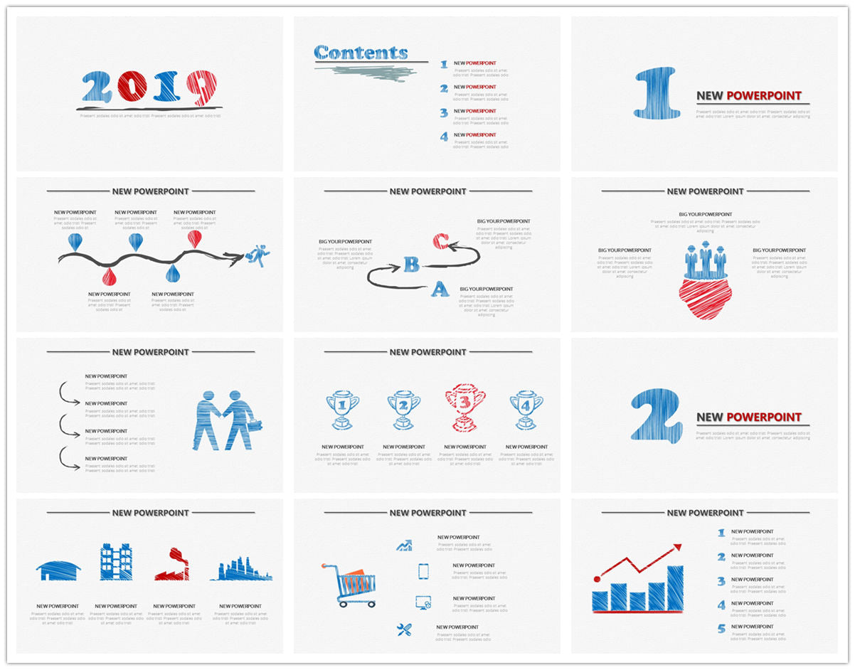 {PowerPointEasy}-{Templates}-{The best 10 hand drawing PowerPoint template}-{bundles}-slide9