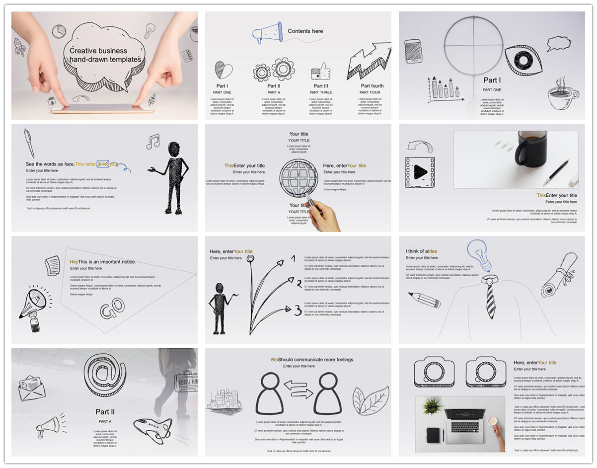 {PowerPointEasy}-{Templates}-{The best 10 hand drawing PowerPoint template}-{bundles}-slide15