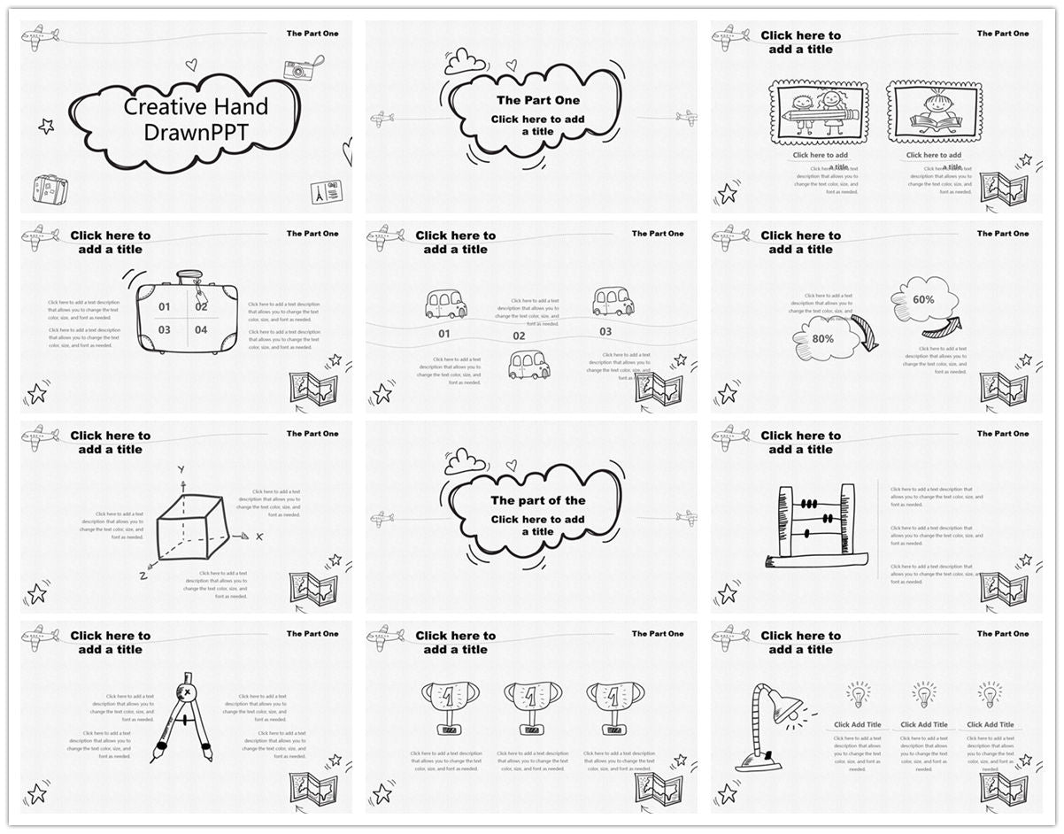 {PowerPointEasy}-{Templates}-{The best 10 hand drawing PowerPoint template}-{bundles}-slide13