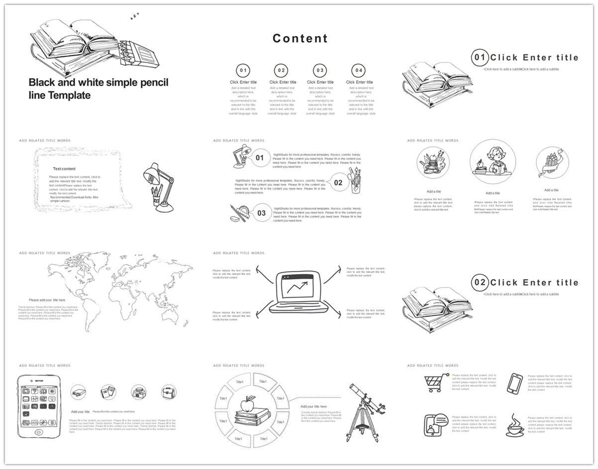 {PowerPointEasy}-{Templates}-{The best 10 hand drawing PowerPoint template}-{bundles}-slide17