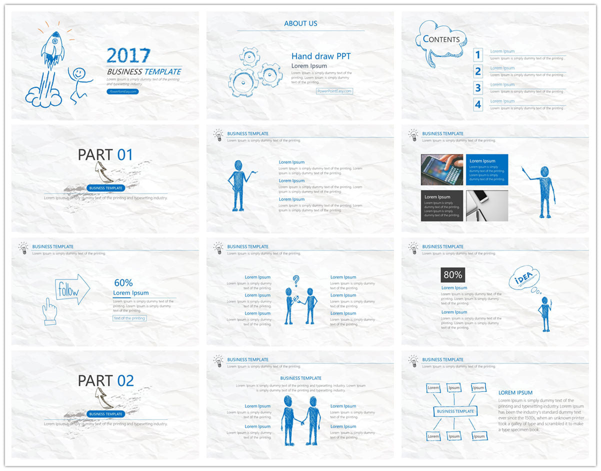 {PowerPointEasy}-{Templates}-{The best 10 hand drawing PowerPoint template}-{bundles}-slide11