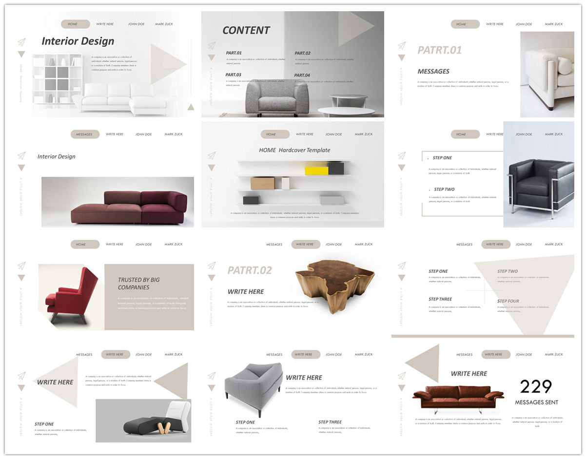 {PowerPointEasy}-{Templates}-{The Best 7 Interior Design Powerpoint Templates}-{bundles}-slide3