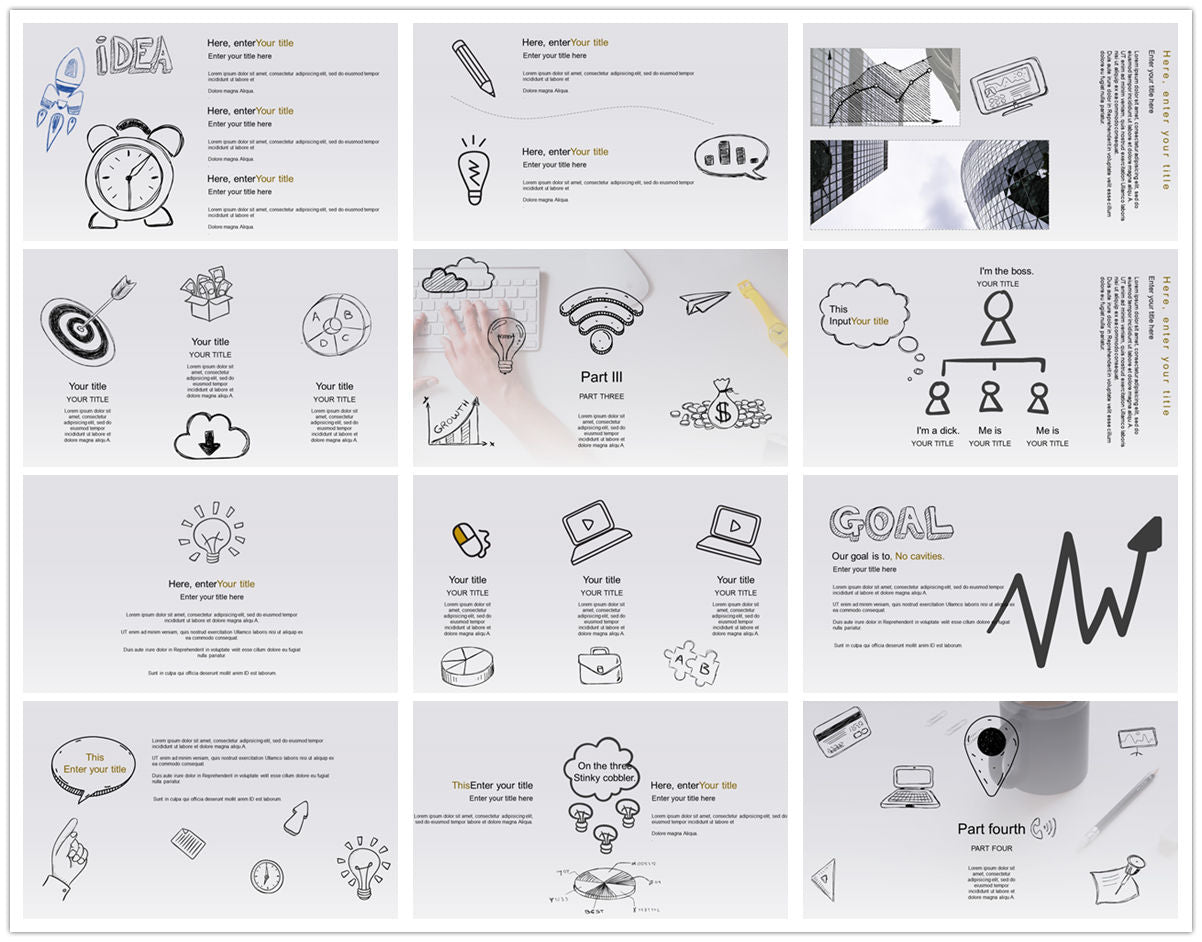 {PowerPointEasy}-{Templates}-{The best 10 hand drawing PowerPoint template}-{bundles}-slide16