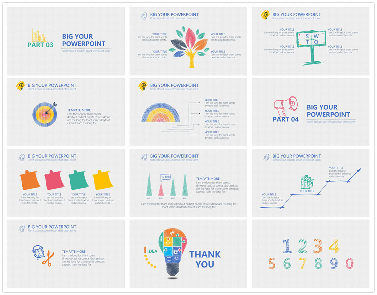 {PowerPointEasy}-{Templates}-{The best 10 hand drawing PowerPoint template}-{bundles}-slide4