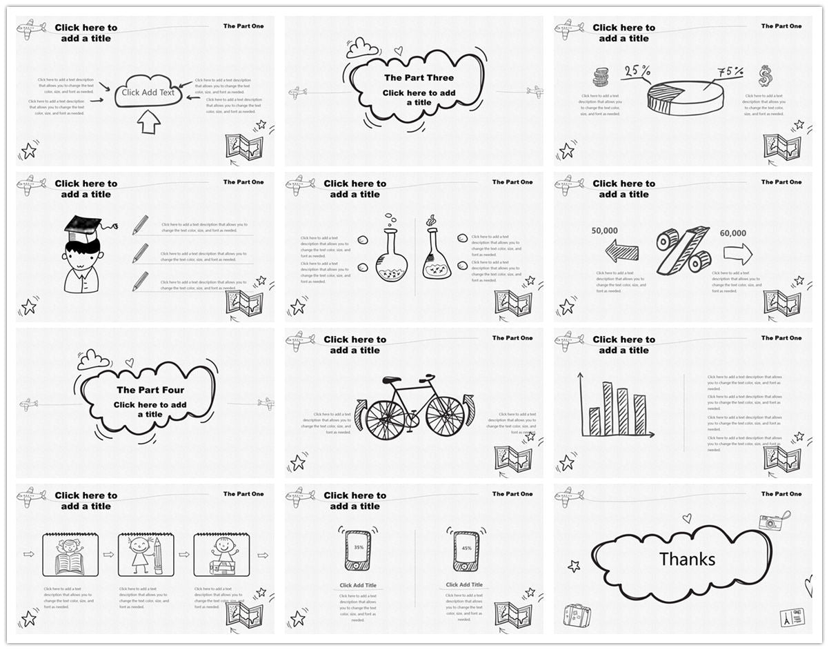 {PowerPointEasy}-{Templates}-{The best 10 hand drawing PowerPoint template}-{bundles}-slide14