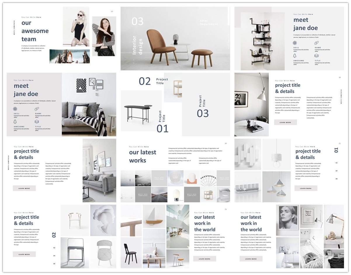 {PowerPointEasy}-{Templates}-{The Best 7 Interior Design Powerpoint Templates}-{bundles}-slide10