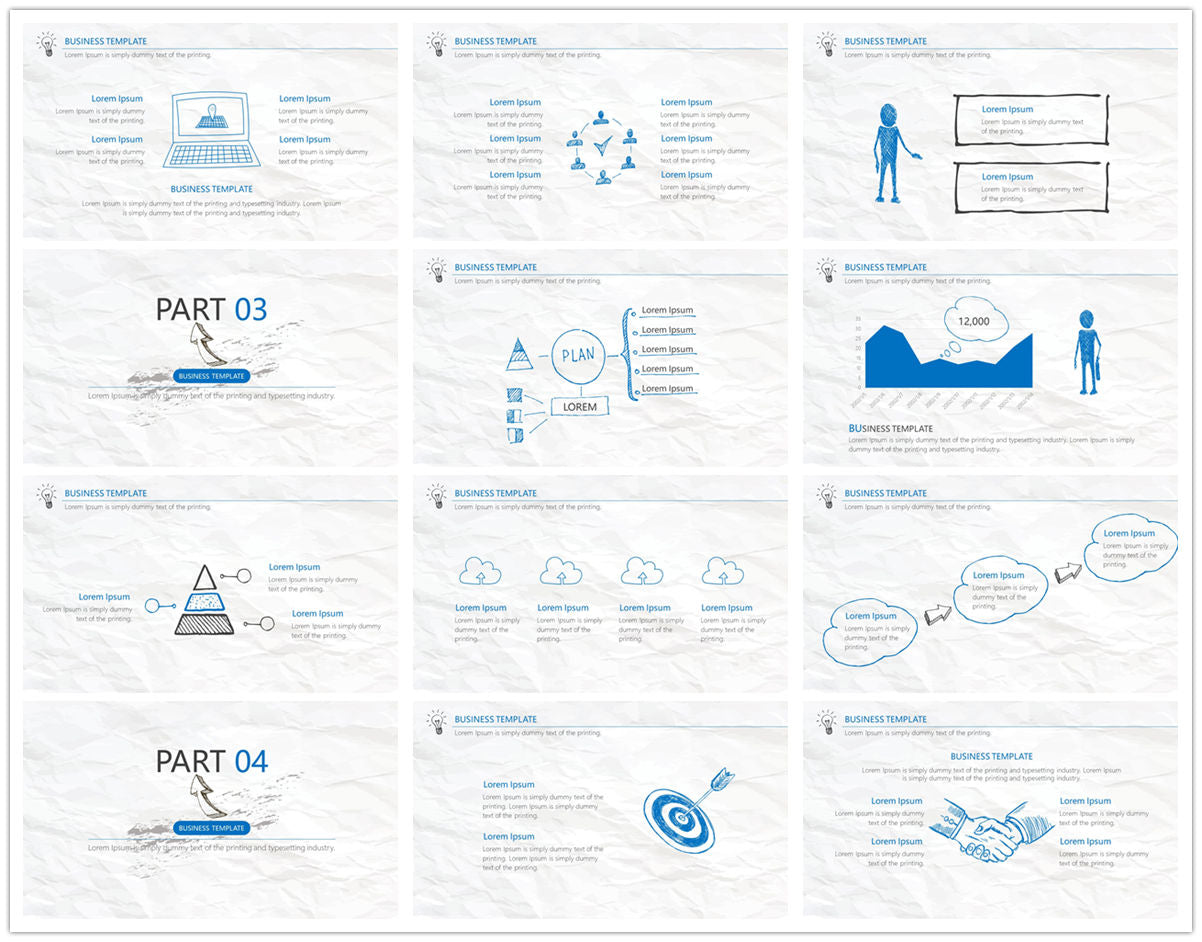 {PowerPointEasy}-{Templates}-{The best 10 hand drawing PowerPoint template}-{bundles}-slide12