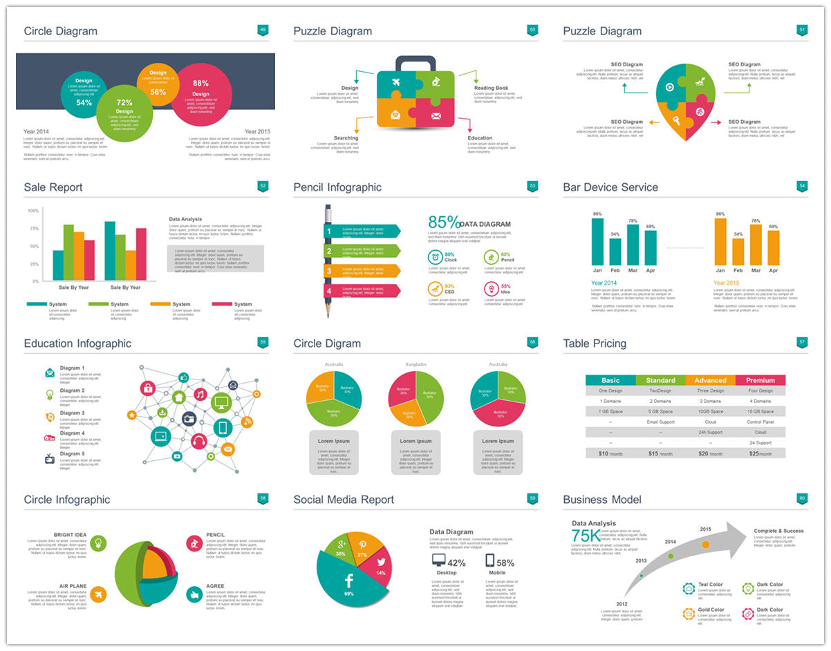 {PowerPointEasy}-{Templates}-{100 Flat Design Infographics of Business Template}-{bundle}-Slide5