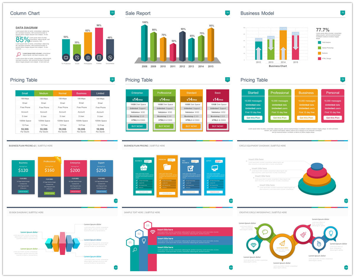 {PowerPointEasy}-{Templates}-{100 Flat Design Infographics of Business Template}-{bundle}-Slide7