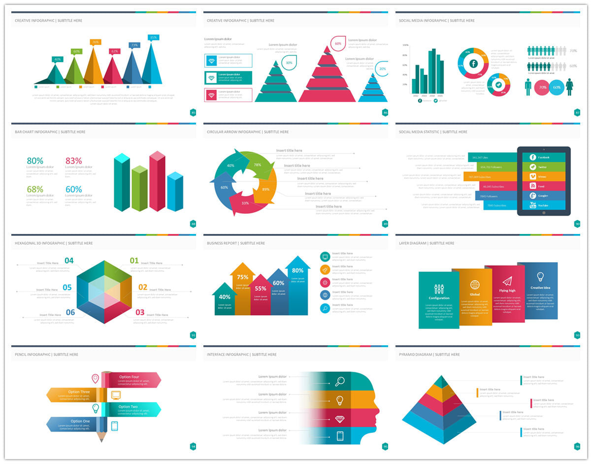 {PowerPointEasy}-{Templates}-{100 Flat Design Infographics of Business Template}-{bundle}-Slide8