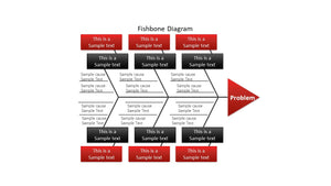 Fishbone Diagram PowerPoint Template - PowerPointEasy