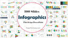 Load image into Gallery viewer, 100 Flat Design Infographics Powerpoint of Business Template - PowerPointEasy