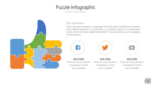 Puzzle Infographic Diagram PowerPoint template
